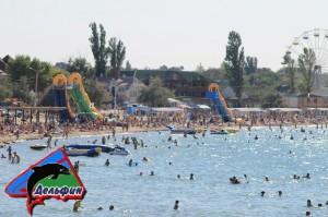 Фото пляжа в пгт Черноморское 2013 год
