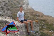 Остров Крым - Оползневое побережье Джангуль - остаток плиты Древнего городища